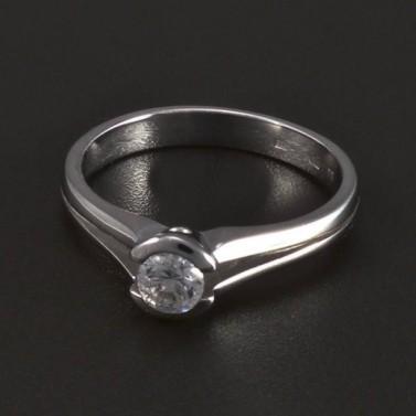 Jednoduchý zásnubní prsten bílé zlato 5281 č.1