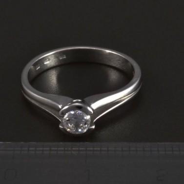 Jednoduchý zásnubní prsten bílé zlato 5281 č.2