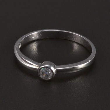 zásnubní prsten z bílého zlata 5282 č.1