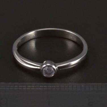 zásnubní prsten z bílého zlata 5282 č.2