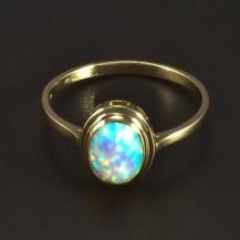Zlatý prsten s opálem 5303