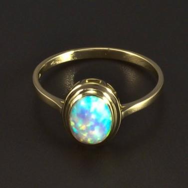 Zlatý prsten s opálem 5303 č.1