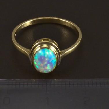 Zlatý prsten s opálem 5303 č.2