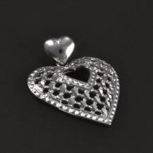 Stříbrný přívěsek vybroušené srdce 5332