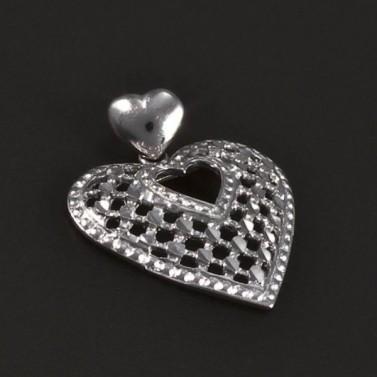 Stříbrný přívěsek vybroušené srdce 5332 č.1