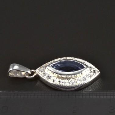Stříbrný přívěsek akvamarín 5335 č.2