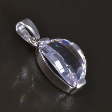 Stříbrný přívěsek broušený zirkon oválný 5336 č.1