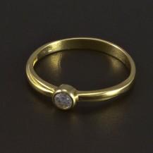 Zlatý žlutý zásnubní prsten 5340