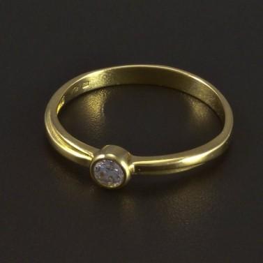 Zlatý žlutý zásnubní prsten 5340 č.1