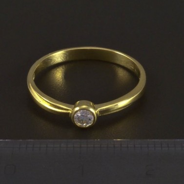 Zlatý žlutý zásnubní prsten 5340 č.2