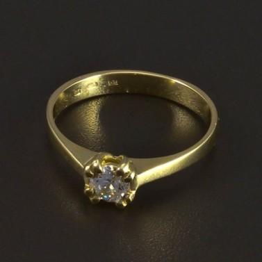Zásnubní prsten zlatý 5342 č.1