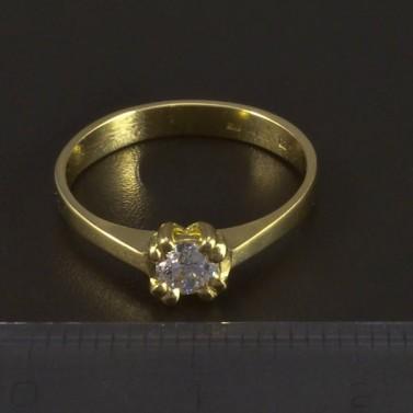 Zásnubní prsten zlatý 5342 č.2
