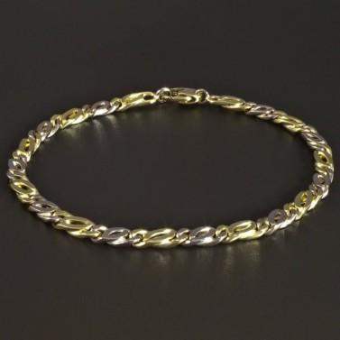 Masivní zlatý náramek žluté a bílé zlato 5347 č.1