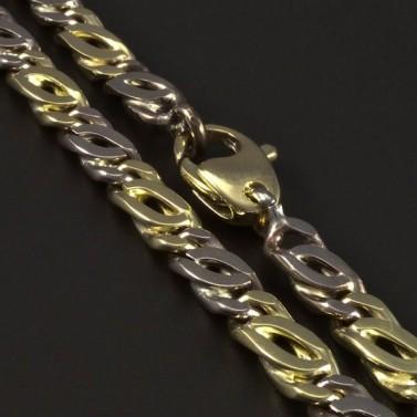 Masivní zlatý náramek žluté a bílé zlato 5347 č.2