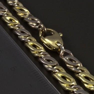 Masivní zlatý náramek žluté a bílé zlato 5347 č.3