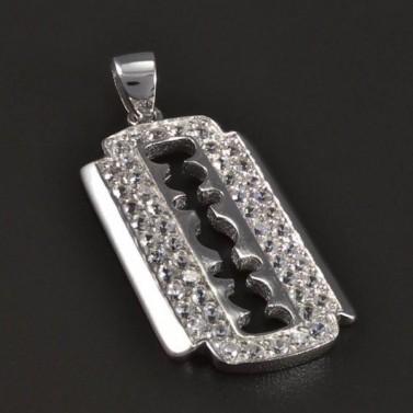 Stříbrný přívěsek žiletka 5354 č.1