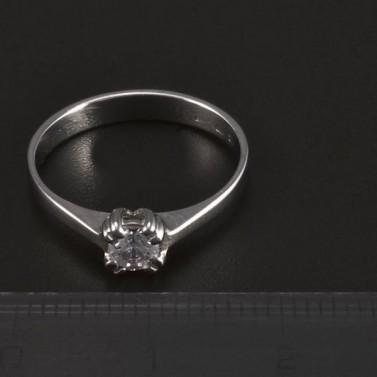 Zásnubní prsten lesklé bílé zlato 5504 č.2