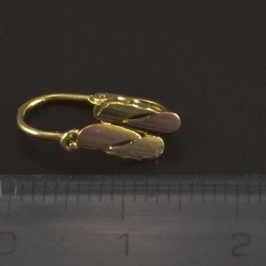 Dětské náušnice žluté a červené zlato 5520 č.3