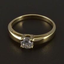 Zlatý prsten zásnubní se zirkonem 5541