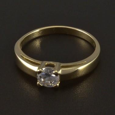 Zlatý prsten zásnubní se zirkonem 5541 č.1