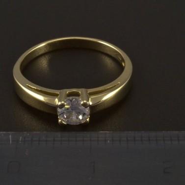 Zlatý prsten zásnubní se zirkonem 5541 č.2