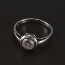 Zásnubní prsten klasik bílé zlato 5542