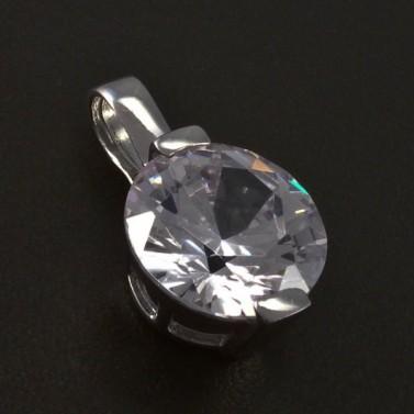 Stříbrný přívěsek broušený zirkon 5548 č.1