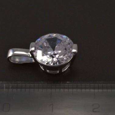 Stříbrný přívěsek broušený zirkon 5548 č.2