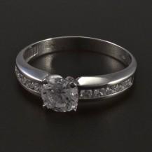 Zásnubní prsten z bílého zlata 5555