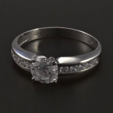 Zásnubní prsten z bílého zlata 5555 č.1