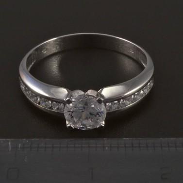 Stříbrný prsten s bílými zirkony 5556 č.2