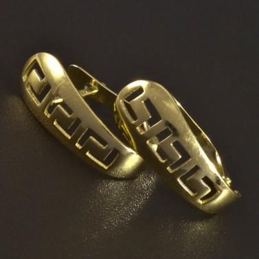 Zlaté dámské náušnice řecký vzor 5558 č.1