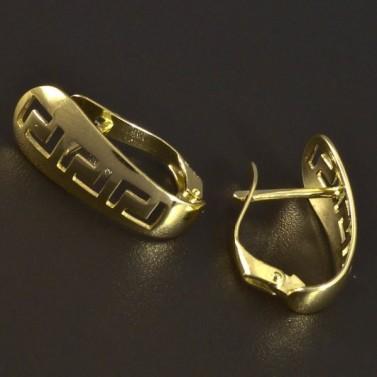 Zlaté dámské náušnice řecký vzor 5558 č.2