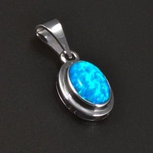 Stříbrný přívěsek opál oválný tvar 5757