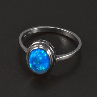 Stříbrný prsten oválný opál 5758 č.1
