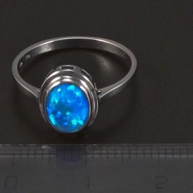 Stříbrný prsten oválný opál 5758 č.2