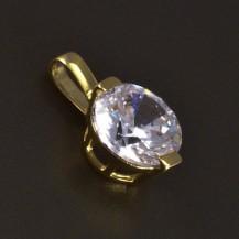 Zlatý přívěsek kulatý zirkon 5761