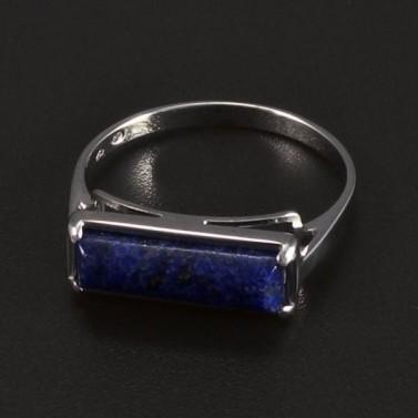 Prsten bílé zlato obdélníkový lápis 5793 č.1