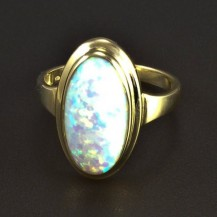 Zlatý prsten oválný opál 5824