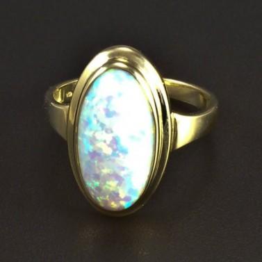 Zlatý prsten oválný opál 5824 č.1