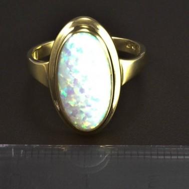 Zlatý prsten oválný opál 5824 č.2