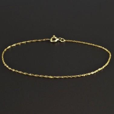 Zlatý jemný náramek 5831 č.1