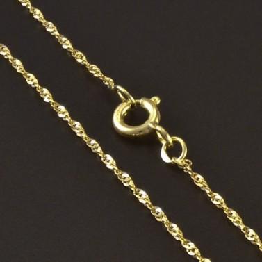 Zlatý jemný náramek 5831 č.2