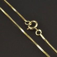 Zlatý řetízek kostička 5832