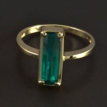 Zlatý prsten s obdelníkovým smaragdem 5897