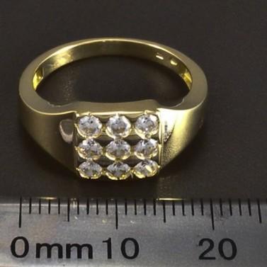 Zlatý masivní prsten se zirkony 5898 č.2