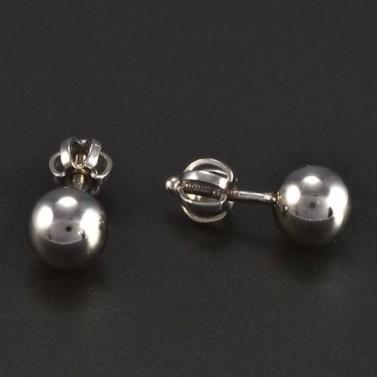 Bílé zlato náušnice kuličky průměr 5900 č.2
