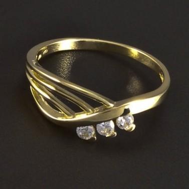 Zlatý prsten prořezávaný se zirkony 5903 č.1