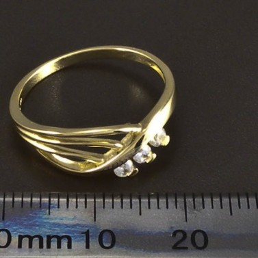 Zlatý prsten prořezávaný se zirkony 5903 č.2