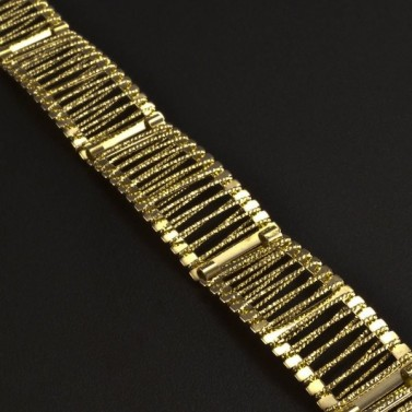 Široký zlatý náramek 5982 č.2